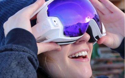 Lunettes de skis connectées
